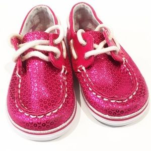 Sperry Pink Boat Shoes Sz 4